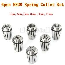 6pcs ER20 Spring Collet Set For CNC Workholding Engraving & milling Lathe Tool