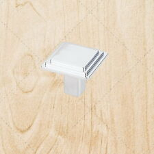 Kitchen Cabinet Hardware Square Knobs kt51 Polished Chrome pull 1-1/8""
