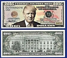 (5) Donald Trump 2016 Federal Victory Bills Presidential- Political Money O1