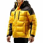 VIP Edition: 70% OFF Mens Hooded Winter Down Wellon Parka Jacket Coat Yellow - M