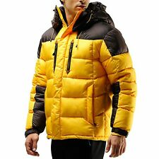 VIP Edition: 70% OFF Mens Hooded Winter Down Wellon Parka Jacket Coat Yellow - S