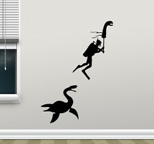 Loch Ness Monster Diver Wall Decal Vinyl Sticker Funny Poster Art Decor 140crt
