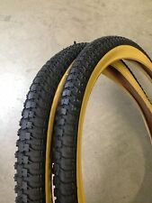 (2tires w/tubes) 20x1.75 BMX Snakebelly Gumwall Tires