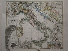 1846 SPRUNER ANTIQUE HISTORICAL MAP ~ ITALY 1450-1792 BATTLEFIELD PAVIA VENICE