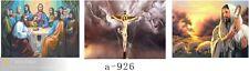 Incorniciato 3d ARTE ULTIMA CENA CROCIFISSIONE GESU' 3 cambia foto HD 30x40cm NUOVO