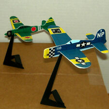 WW II Inspired FIGHTER PLANES TOY Figure CAKE TOPPER FIGURINE w/ Stand Lot #2