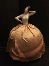 Porcelain Vintage Half Doll Complete Pin Cushion Arms Half Away Spanish Danced