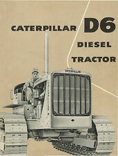 Caterpillar D6 Diesel Tractor Sales Booklet 1956