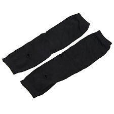 Lady Stretchy Soft Arm Warmer Long Sleeve Fingerless Gloves - Black BEB