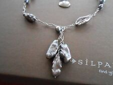 RARE & HTF Silpada Sterling Silver & Freshwater Pearl Necklace