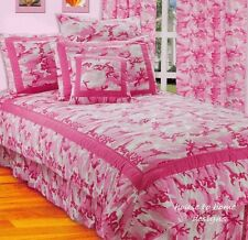 HOT PINK CAMO 3pc Twin COMFORTER SET - TEEN GIRLS CAMOUFLAGE COOL BEDDING