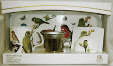 Roy Kirkham Garden Birds Infuser Mug  Coaster & Tray Set Gift Boxed Tea Nature