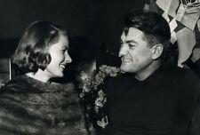 Photo Argentique Ingrid Bergman Jean Marais Vers 1960