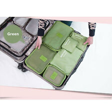 6Pcs Waterproof Clothes Storage Bags Travel Luggage Packing Cube Organizer Pouch