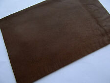 "TOP QUALITY  DARK BROWN LEATHER 7"" x 5"" REMNANT / PATCH / TRIMMINGS"