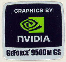 NVIDIA GEFORCE 9500M GS  STICKER LOGO AUFKLEBER 18x18mm (249)