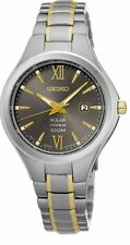 Seiko Solar SUT275 Grey Dial Two-Tone Titanium Women's Watch