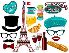 DIY DIGITAL Paris inspired photo booth props NO PHYSICAL ITEM