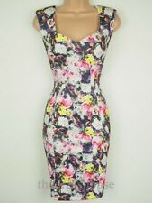 BNWT Coleen Rooney Size 14 Floral Print Stretch Bodycon pencil wiggle Dress