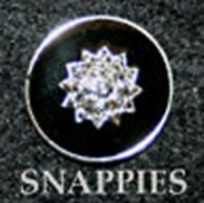Snappies BLACK MAGNETIC stock tie hunt collar pin NICE! DRESSAGE SHOW HACK