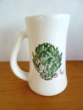 Tall Artichoke Coffee Mug   Recipe on Back  Master Chef Mauing Suarez   6 5/8""