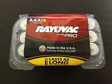 (Pack of 18) Rayovac ALAAA UltraPRO Alkaline AAA Batteries EXP 2023- Made in USA