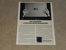 Dahlquist DQ-10 Speaker Ad 1 page, 1975, Article, Info