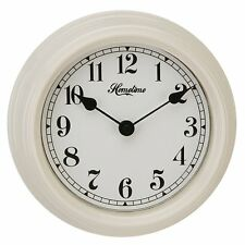 "Cream Metal Wall Clock Arabic Dial ""ORIANA"" Kitchen Wall Clock"