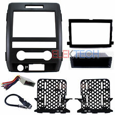 Radio Replacement Dash Kit Double-DIN w/Wire Harness & Antenna for Ford F-150
