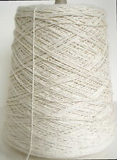 NATURAL 4/2 Cotton unmercerized Cone Yarn Weave Knit Crochet 1680 ypp 1 lb