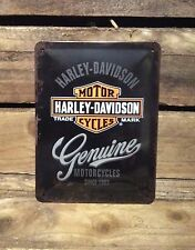 Harley Davidson Genuine Motorcycles medium Vintage Retro Tin Signs.