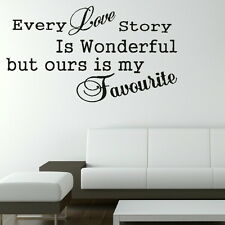 Love Quote Wall Sticker Decal Transfer Graphic Stencil Home Decor SML/BLK qu9