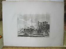 Vintage Print,CASTOR HALL,Pl2,Grose's Antiquities England,c1790