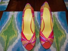 Nine West Shoes, Chillpill Platform Wedge Sandals - Beach Stripe Pink Multi 6M
