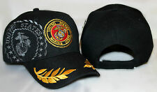 Embroidered USMC Marines Marine Shadow Gold Leaf Feather eggs Baseball Hat Cap
