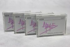 Lot of 4 Apogee AD34 4mm Blank DAT Digital Audio Tapes Archival Mastering Grade!