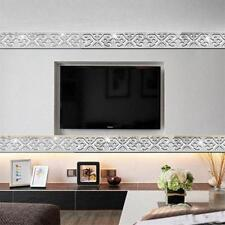 Mirror Wall Stickers Acrylic Sticker Ceiling Stickers Flower Design Home Decor