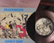 """MADNESS – GREY DAY - RUBY RED VINYL UK 7"""" + PRESS SHEET - SUGGS SKA TWO 2 TONE"""