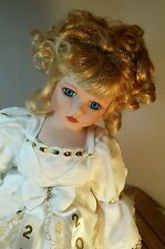 Paradise Galleries Treasury Collection 2000 White Lace Angel Porcelain Doll