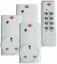 Brennenstuhl Remote Control Wireless Switch Set with 3 Receiver UK Plug Sockets