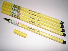 5x Stabilo PEN 68 gelb Fasermaler Strichstärke 1,0 mm 68/44 Filzstift NEU