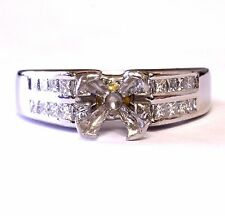 900 platinum .40ct princess VS G diamond 8.7g semi-mount engagement ring vintage