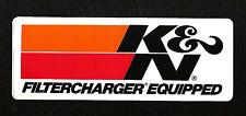 Original K & N Filter Charger Equipped Vintage Racing Sticker NHRA NASCAR