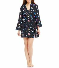 Kate Spade New York soft Flannel Robe Hot Air Balloons Navy blue New L/XL