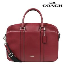 COACH F71681 SLIM BRIEF IN CROSSGRAIN LEATHER DARK CHERRY NWT