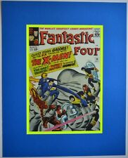FANTASTIC FOUR 28 Pinup Poster Frame Ready Marvel X-MEN