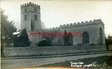 REAL PHOTOGRAPHIC POSTCARD OF YARNTON CHURCH, NEAR OXFORD, OXFORDSHIRE SIMMS