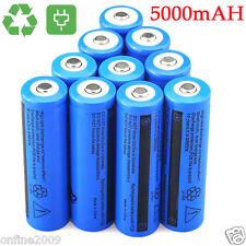 10PCS 3.7V 5000mAH BRC Li-ion Rechargeable 18650 Battery For Flashlight Torch
