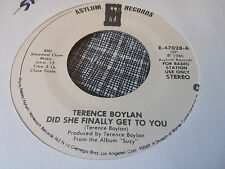 Terence Boylan 45 Did She Finally Get to You Asylum Promo 47028 Suzy 1980