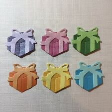 6 SQUARE PRESENT EMBELLISHMENT SCRAPBOOKING DIE CUTS FULLY ASSEMBLED GIFT